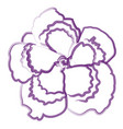 isolated flower outline vector image vector image
