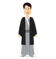 japanese man people with traditional costume vector image vector image