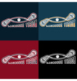 lacrosse vision design template vector image vector image