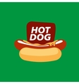 logo hot dog vector image
