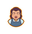 mascot a grandmother vector image vector image