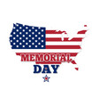 memorial day design map of the usa vector image vector image