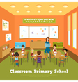 Primary School Classroom Template vector image