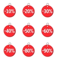 Red Price icons vector image
