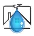 repair of plumbing in the house vector image vector image