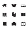 schoolbook icons set vector image vector image
