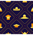 Seamless background with different hats vector image