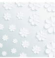 seamless pattern daisy on gray background vector image vector image