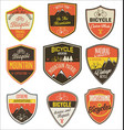 set bicycle retro vintage badges and labels vector image vector image