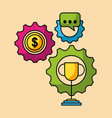 set business and finance icons web app image vector image vector image