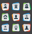 set simple human icons vector image