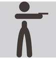 shooting icon vector image vector image