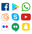 social media icon for facebook whatsapp skype vector image vector image
