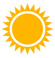 sun clip-art flat sun icon with edgy rays vector image
