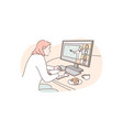 training communication distance work business vector image