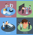 tuberculosis prevention concept icons set vector image vector image