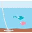 cartoon fishes and plug vector image