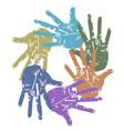 color grunge hand around vector image