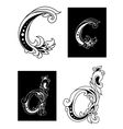 Decorative letters C and D vector image