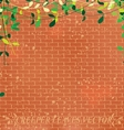 wall leaves vector image