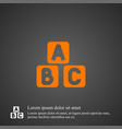 abc cube icon simple vector image