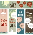 retro tag set for summer sale vector image