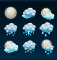 weather forecast icons-night vector image