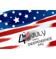4th july happy independence day design banner vector image vector image