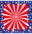 American flag stylized vector image vector image