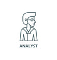 analyst line icon analyst outline sign vector image