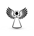 angel silhouette icon vector image