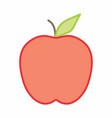 apple colorful vector image