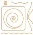 beige rope elements vector image
