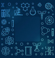 biological engineering outline blue square vector image