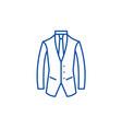 business suit line icon concept business suit vector image vector image