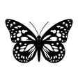 Butterfly in Black and White vector image vector image