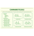 cannabicyclol cbl with structural formulas vector image vector image