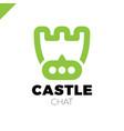 castle shield simple minimalist logotype secure vector image