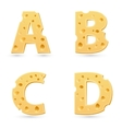 Cheese letters collection vector image