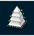 Christmas tree formed pyramide with luminous vector image