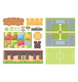 cityscape elements - set modern objects vector image