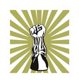 Clenched Fist Up vector image vector image