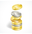 Coin Stack vector image vector image