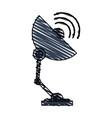 color crayon stripe image satellite antenna vector image vector image