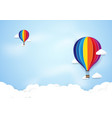 colorful hot air balloons flying on blue sky vector image vector image