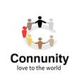 Community Design vector image vector image