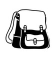 Contour school backpack education object design vector image