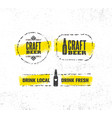 craft beer brewery artisan creative sign vector image vector image