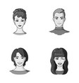 different looks of young peopleavatar and face vector image vector image