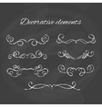 Dividers set Chalk divider on blackboard Hand vector image vector image